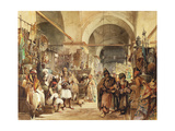 In the Bazaar, 1854 Giclee Print by Amadeo Preziosi