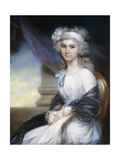 Portrait of Miss Sophia Vansittart, Three-Quarter Length, Wearing a White Dress with a White… Giclee Print by John Russell