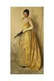 The Lady in Gold - a Portrait of Mrs, C.1891 Giclee Print by Thomas Cooper Gotch