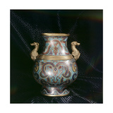 Cloisonne Enamel Vessel with Similar Shape to Archaic Ritual Bronze Vessels Giclee Print