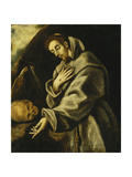 Saint Francis in Meditation Giclee Print by  El Greco