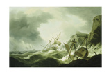 A Shipwreck Giclee Print by Thomas Luny