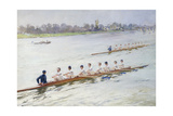 Eights Racing at Putney Giclee Print by Ferdinand Joseph Gueldry