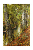 A Wooded River Landscape, 1893 Giclee Print by Peder Mork Monsted