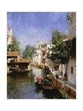 A Venetian Canal Scene Giclee Print by Rubens Santoro