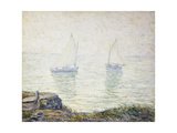 Sailboats Giclee Print by Ernest Lawson