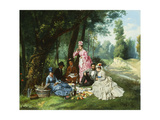 The Picnic, 1874 Giclee Print by Antonio Garcia Mencia