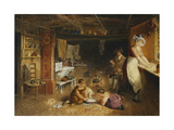 Work and Play in the Kitchen Giclee Print by Thomas Heaphy