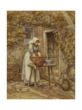 Washing Day Giclee Print by Helen Allingham