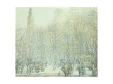 Winter in New York Giclee Print by F. Usher de Voll