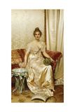 The Satin Rose Giclee Print by Joseph Frederic Soulacroix