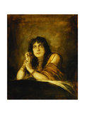 Portrait of Sarah Bernard, as Lady Macbeth, 1892 Giclee Print by Franz Seraph von Lenbach