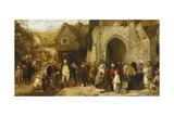 The Statute Fair, 1859 Giclee Print by George Bernard O'neill