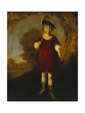 Portrait of a Young Boy as a Shepherd, Standing Full Length, in a Landscape Lámina giclée por Jacob Gerritsz Cuyp
