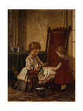 Playing Field Hospital Giclee Print by William Morris Hunt