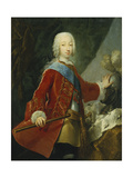 Portrait of a Gentleman, Probably the Grand Duke Peter Fedorovich, Later Czar Peter III, Standing… Giclee Print by Georg Christoph Grooth