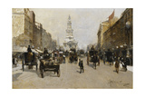 The Strand, London, 1888 Giclee Print by Paolo Sala