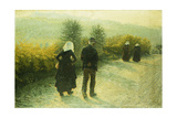 Alla Domenicale, 1890 Giclee Print by Angelo Morbelli