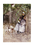 At the Farm Gate Giclee Print by Mose Bianchi