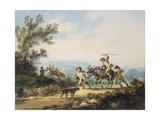 The Recalcitrant Donkey, 1798 Giclee Print by Julius Caesar Ibbetson