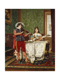 The Duet, 1888 Giclee Print by Adolphe Alexandre Lesrel