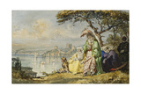 Ladies on the Bosphorous with Rumeli Hisar Beyond, 1873 Giclee Print by Amadeo Preziosi