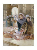 Women in the Fish Market, Boulogne Giclee Print by Hector Caffieri