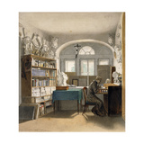 The Artist in His Study, 1842 Giclee Print by Julius Schnorr von Carolsfeld