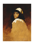 The Moroccan Girl, C.1886 Giclee Print by William Merritt Chase