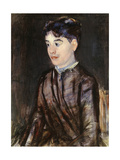 Young Woman in Black Giclee Print by Mary Stevenson Cassatt