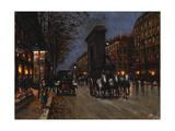 Le Boulevard St. Denis, Paris Giclee Print by Fausto Giusto
