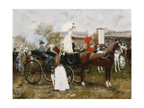 At the Races Giclee Print by Francesco Miralles Galaup