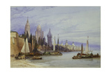 Mayence, on the Rhine, 1895 Giclee Print by William Callow