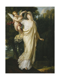 Posthumous Portrait of the Marquise Fanny Grimaldi, Nee Baronne Von Burkenwald, Princess of Santa… Giclee Print by Francois Xavier Fabre