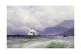 A Coastal Landscape with Shipping Off Trebizond, 1888 Giclee Print by Ivan Konstantinovich Aivazovsky