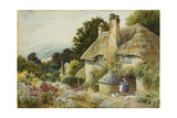 A Cottage at Selworthy, Near Minehead Giclee Print by Arthur Claude Strachan