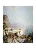 Amalfi - Gulf of Salerno; Amalfi - Golfe De Salerne Giclee Print by Franz Richard Unterberger