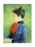 Profile of a Woman Wearing a Jabot Giclee Print by Mary Stevenson Cassatt