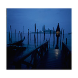 Gondola Moorings and the Eternal Light, with San Giorgio Maggiore in the Background Giclee Print