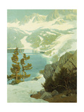 Lake George, Sierra Nevada Giclee Print by Elmer Wachtel