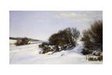 Winter Near the Sea, 1888 Giclee Print by Janus La Cour