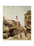 Santa Catarina Canal, Venice Giclee Print by Franz Richard Unterberger