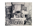 Christ Presented to the People, 1655 Giclee Print by  Rembrandt van Rijn