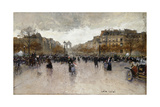 Junction Near the Champs Elysee; Rond Point Des Champs Elysee Giclee Print by Luigi Loir