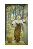 Tithe in Kind Giclee Print by Edward Robert Hughes