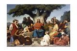 surmon De Jesus-Christ Sur La Montagne' (Matthew, V), 1844 Giclee Print by Edouard Louis Dubufe