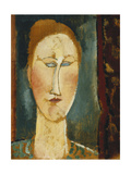 Head of a Woman with Red Hair; Tete De Femme Aux Cheveux Rouges Giclee Print by Amedeo Modigliani