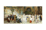 Confirmation Mass, 1870 Giclee Print by Giulio Rosati