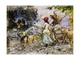 The Goatherds Giclee Print by Mose Bianchi