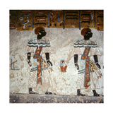 A Detail of a Wall in the Tomb of Ramesses III Painted with Scenes from the Book of Gates Giclee Print